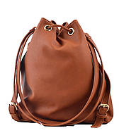 Сумка- рюкзак YES, рыжий, 30*27*15.5 , код: 554154, фото 5