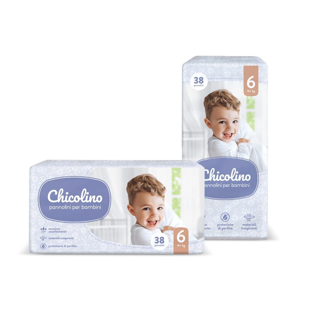 Підгузки Chicolino 6 (16+кг), 38шт