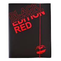 """Папка на резинке А4 """"Black Edition"""" L5603 , код: 490619"""