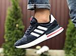 Мужские кроссовки Adidas Zx 500 Rm (темно-синие с белым) 9364, фото 3