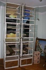 Клетка - витрина для шиншилл