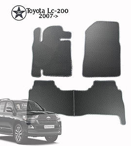 Коврики EVA в салон Toyota Land Cruiser 200 2007-2012. Star-Tex.