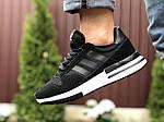 Мужские кроссовки Adidas Zx 500 Rm (черно-белые) 9365, фото 3