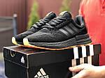 Мужские кроссовки Adidas Zx 500 Rm (черно-оранжевые) 9366, фото 2