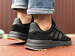 Мужские кроссовки Adidas Zx 500 Rm (черно-оранжевые) 9366, фото 4
