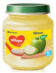 Дитяче пюре  «Яблуко» Milupa 125 гр від 4 міс