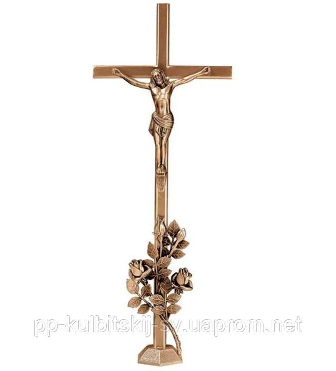 Хрест з розп'яттям на памятник гранітний Lorenzi 2188 \80
