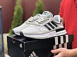 Чоловічі кросівки Adidas Zx 500 Rm (світло-сірі з чорним) 9367, фото 2