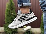 Чоловічі кросівки Adidas Zx 500 Rm (світло-сірі з чорним) 9367, фото 3