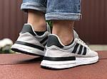 Чоловічі кросівки Adidas Zx 500 Rm (світло-сірі з чорним) 9367, фото 4