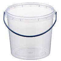 Ведро 1 л. пластиковое для пищевых продуктов 020000012