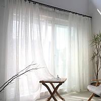 Тюль в комнату турецкая из шифона ALBO 400x270 cm Белая (T-T-4), фото 1