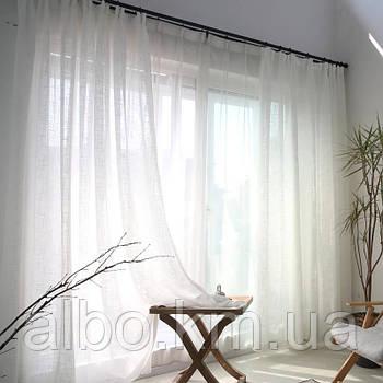 Тюль в кімнату турецька із шифону ALBO 400x270 cm Біла (T-T-4)