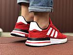 Мужские кроссовки Adidas Zx 500 Rm (красно-белые) 9368, фото 4