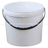 Ведро 1 л. пластиковое для пищевых продуктов белое 020000013