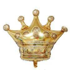 Фольгированный шар корона 70х75 см Китай