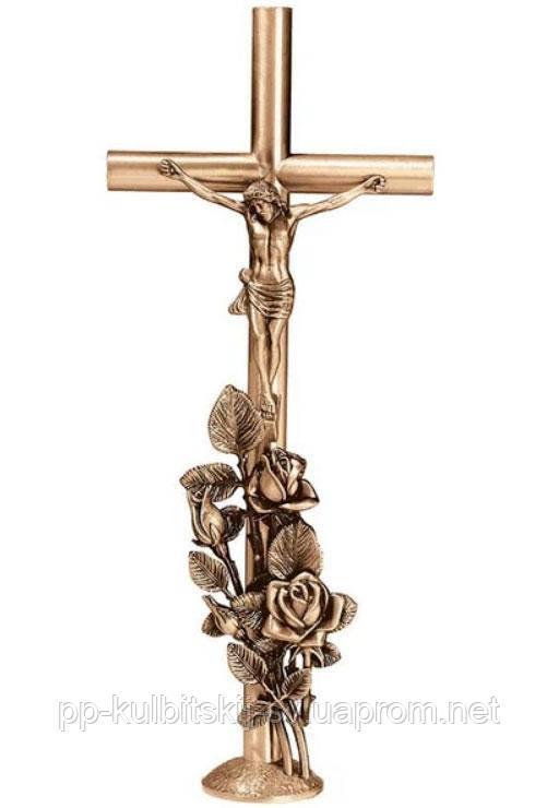 Хрест з розп'яттям на памятник бронзовий Lorenzi 2085 \80