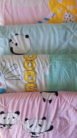 Детское летнее одеяло холлофайбер 110х140. Хлопок., фото 2