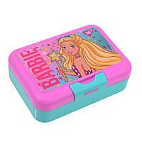 """Контейнер для еды """"Barbie"""", 450 мл, с ложкой и вилкой YES , код: 706824"""