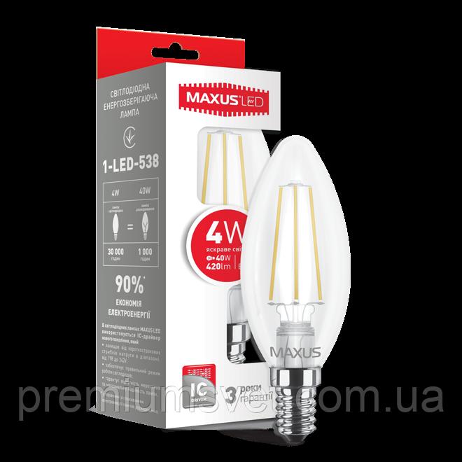 Лампочка светодиодная 1-LED-538 C37 FM-C 4W 4100K 220V E14