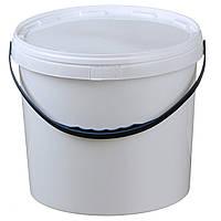 Ведро 10 л. пластиковое для пищевых продуктов, белое 020000024