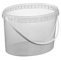 Ведро 11 л(овал) пластиковое для пищевых продуктов 020000025