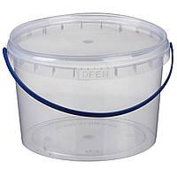 Ведро 2,3 л. пластиковое для пищевых продуктов 020000034