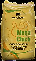 Mega Chick BT G Комбікорм для Бройлерів та Індиків (Гровер)