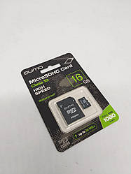 Карта памяти QUMO High Speed microSD HC 16GB Class 10 + SD-adapter. Карта памяти микро сд 16 гб.Micro SD карта
