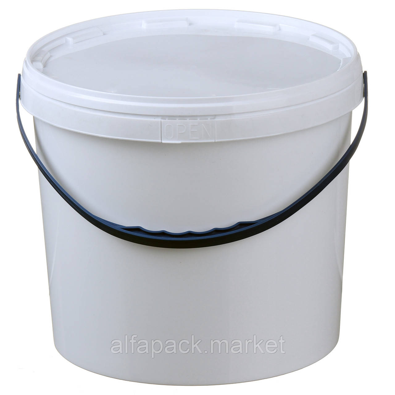 Ведро 5 л. пластиковое для пищевых продуктов, белое 020000051