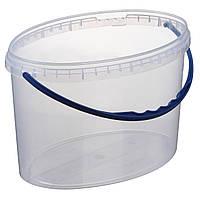 Ведро 5,6 л(овал) пластиковое для пищевых продуктов 020000057