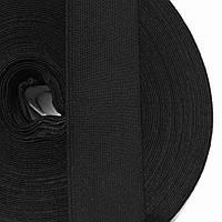 Резинка тканая мягкая 040мм цв черный (уп 25м) 2120 Укр-б