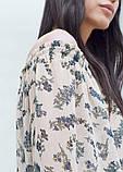 Блуза жіноча літнє з принтом Mango, фото 3