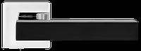 Ручка дверная MVM Z-1410 BLACK/CP черный/полированный хром
