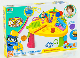 Детский набор столик для лепки плейдо пластилин тесто 8723 30 деталей