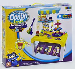 Детский набор столик для лепки плейдо пластилин тесто 8726 8 цветов