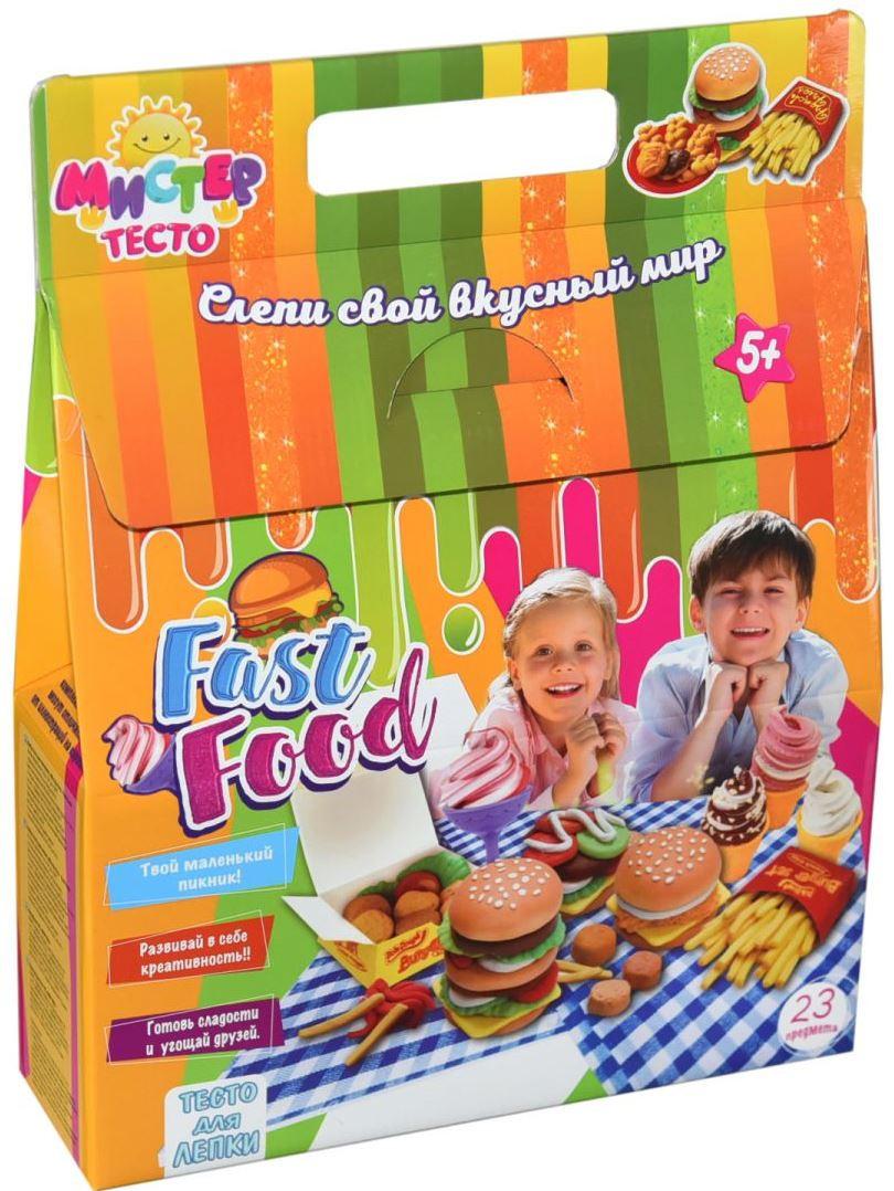 Набор для лепки Мистер тесто Фастфуд Fast food Strateg , 28 элем. (71211)