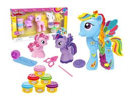 Набор для творчества тесто для лепки 'Пони' Play Toys 666-17