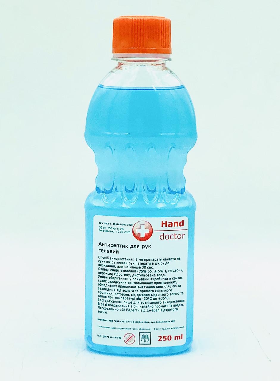 Антисептик спиртової для рук 75% спирту Hand Doctor 250 мл (гель)