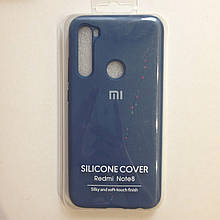 Чехол для Xiaomi Redmi Note 8 Silicone Blue