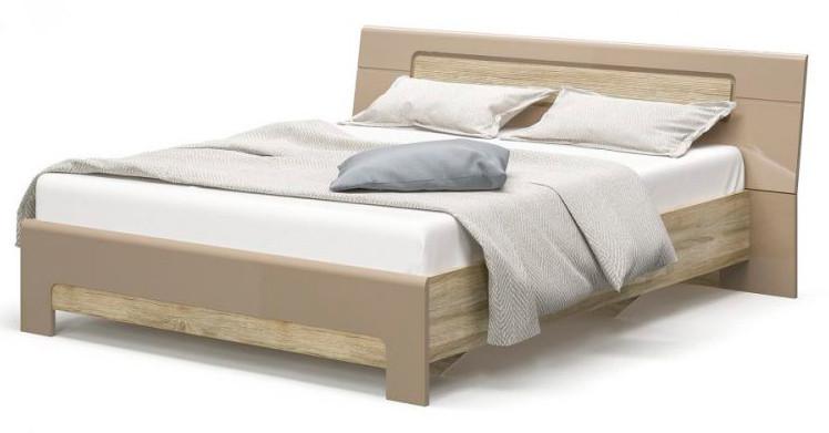 Кровать Флоренс Мебель Сервис (Секвоя + Капучино глянцевый)