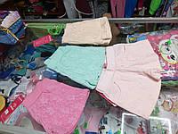 Летние детские шорты с карманами для девочки р.98 - 134