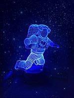 Детский 3D светильник 3DTOYSLAMP Космонавт 2