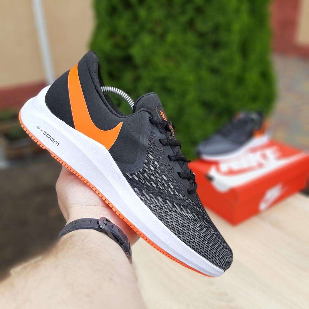 Мужские кроссовки Nike Zoom WINFLC 6 (черно-оранжевые) 10162