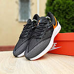 Мужские кроссовки Nike Zoom WINFLC 6 (черно-оранжевые) 10162, фото 4