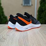 Мужские кроссовки Nike Zoom WINFLC 6 (черно-оранжевые) 10162, фото 7