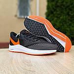 Мужские кроссовки Nike Zoom WINFLC 6 (черно-оранжевые) 10162, фото 8