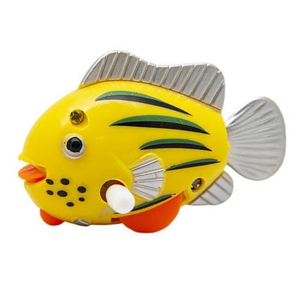 Рыбка заводная, желтая в точку и полоску, 6,5 см (8031A-3-3)