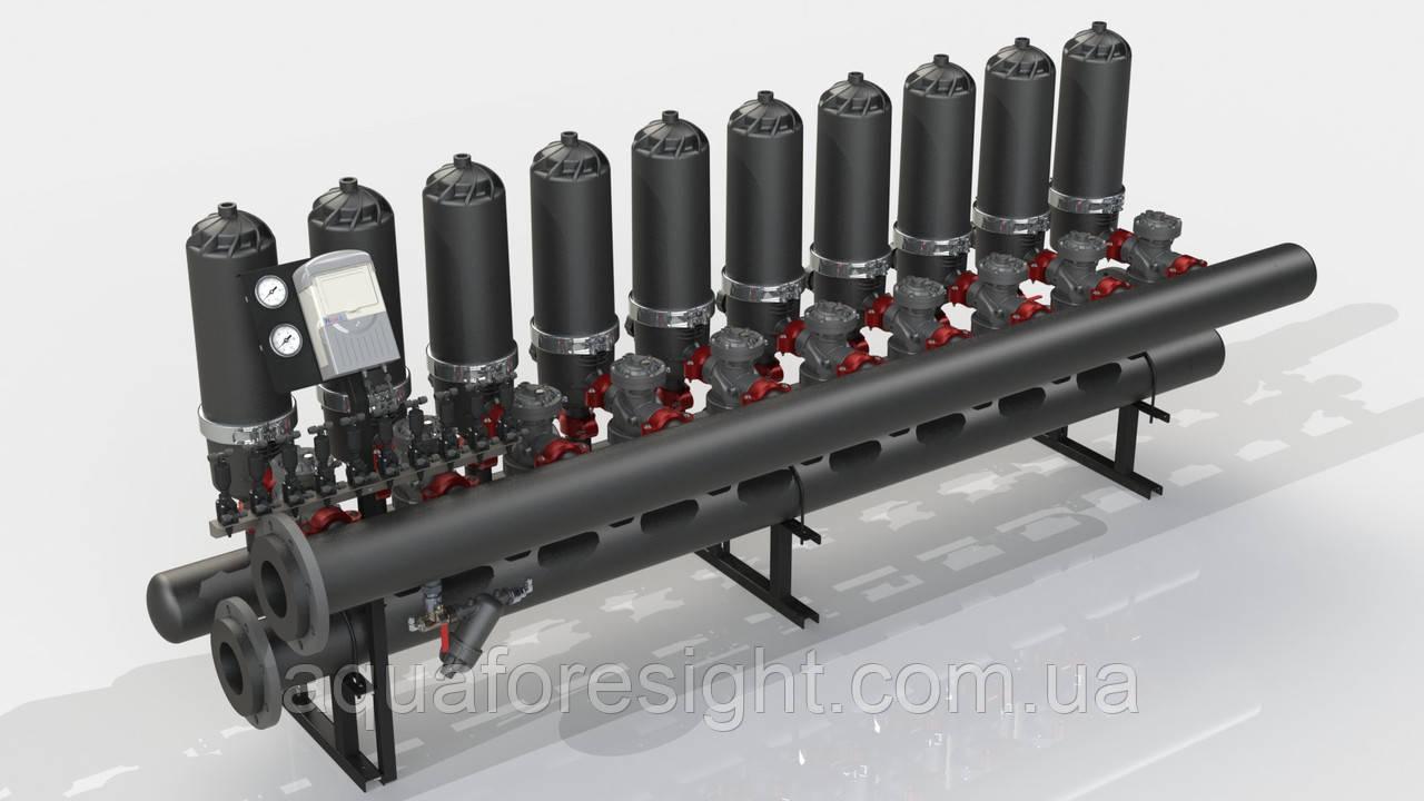 Автоматический дисковый фильтр ADF 1016A-S (100-400 micron) до 240 м3/ч