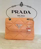 Женская брендовая сумка Prada Прада оранжевая, женские модные сумки, брендовые сумки